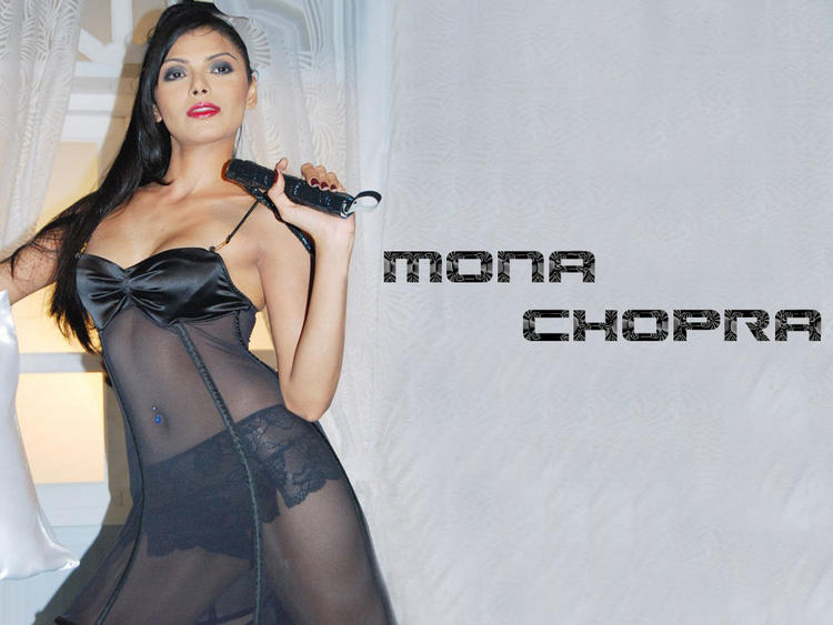 Mona Chopra Transparent Dress Sexiest Wallpaper