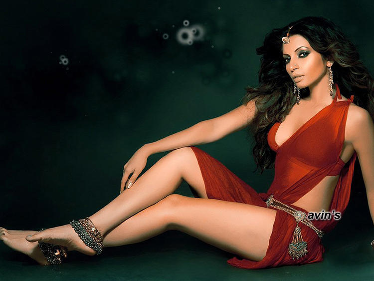 Shama Sikander Milky Legs Pic In Red Dress
