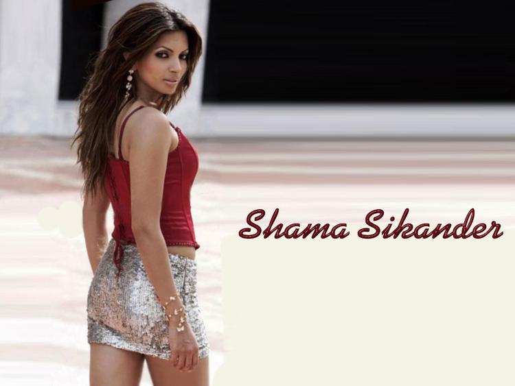 Shama Sikander Mini Dress Hot Look Wallpaper