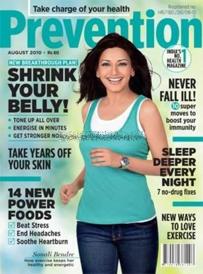 Sonali Bendre In Prevention Magazine Wallpaper
