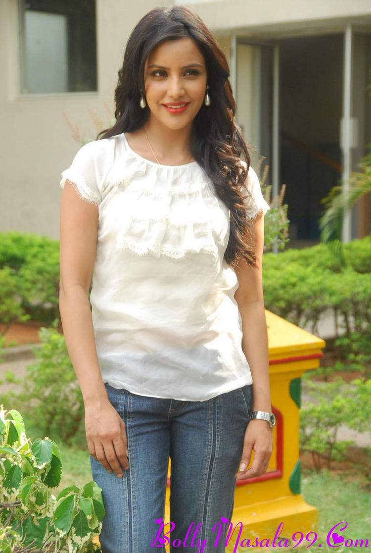 Priya Anand In Jeans And White Tops Photo