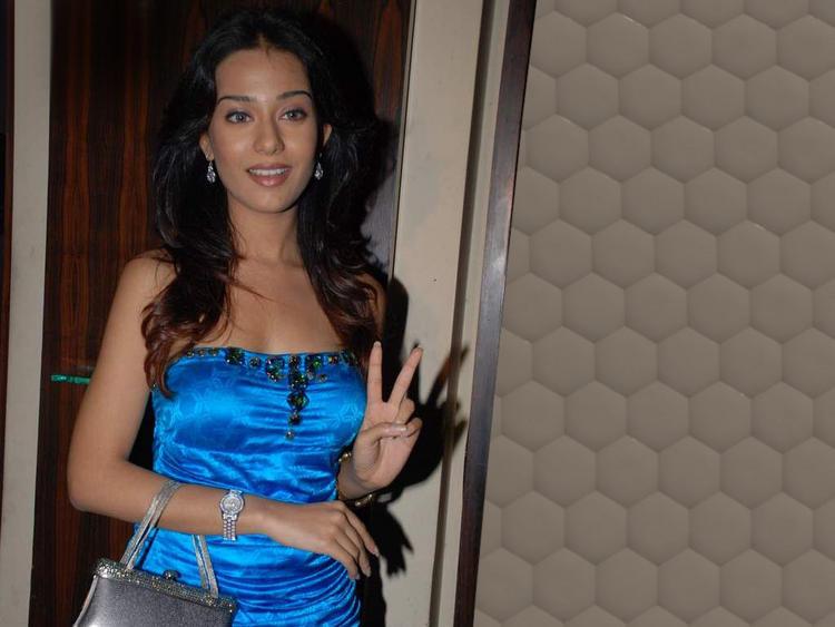 Amrita Rao Blue Dress Glamour Still