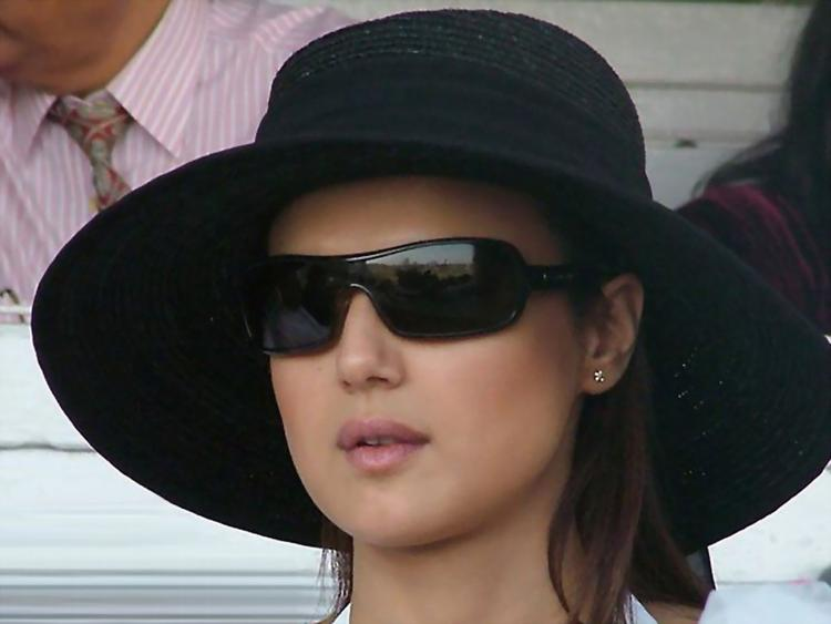 Cute Preity Zinta Hat Wearing Photo