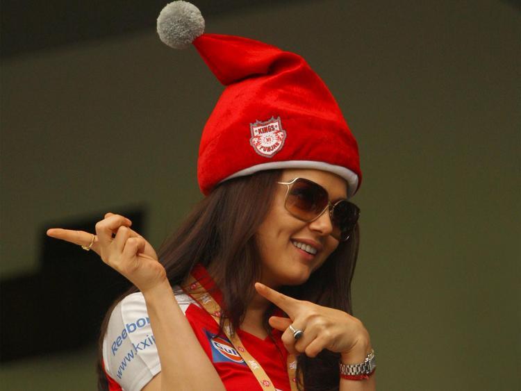 Preity Zinta at IPL