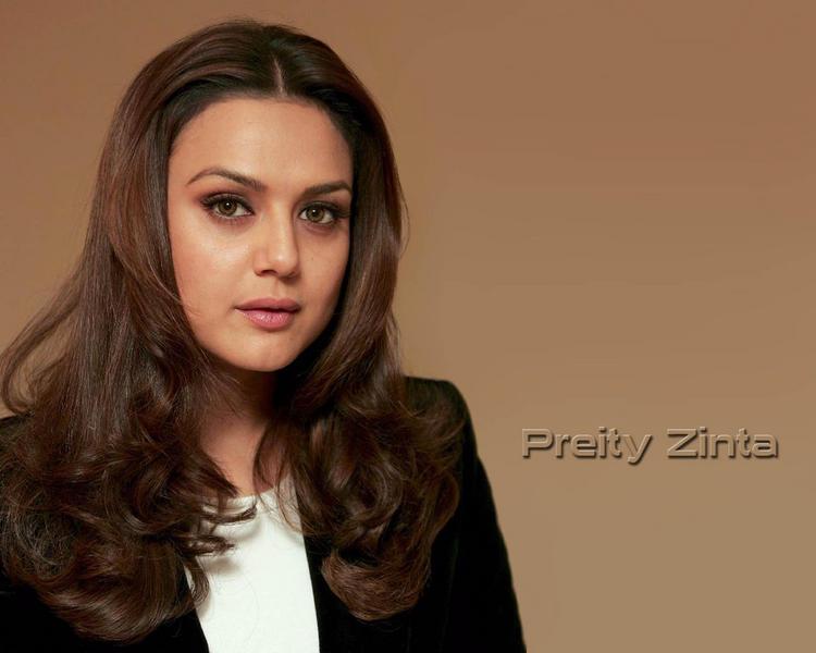 Preity Zinta Nice Hair Style Wallpaper