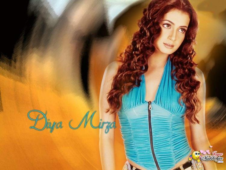 Diya Mirza Brown Curly Hair Wallpaper
