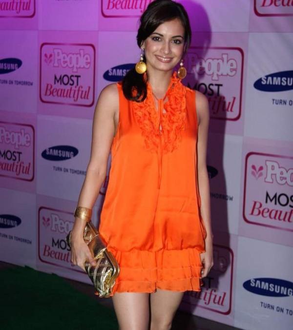 Diya Mirza in Mini Skirt