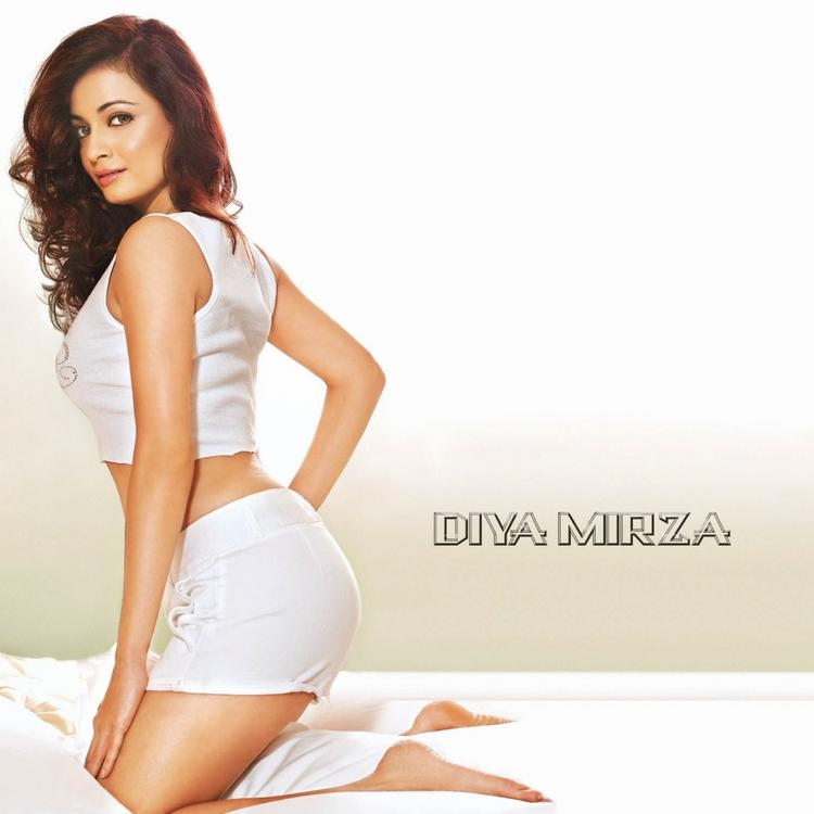 Diya Mirza Spicy Wallpaper In Mini Skirt