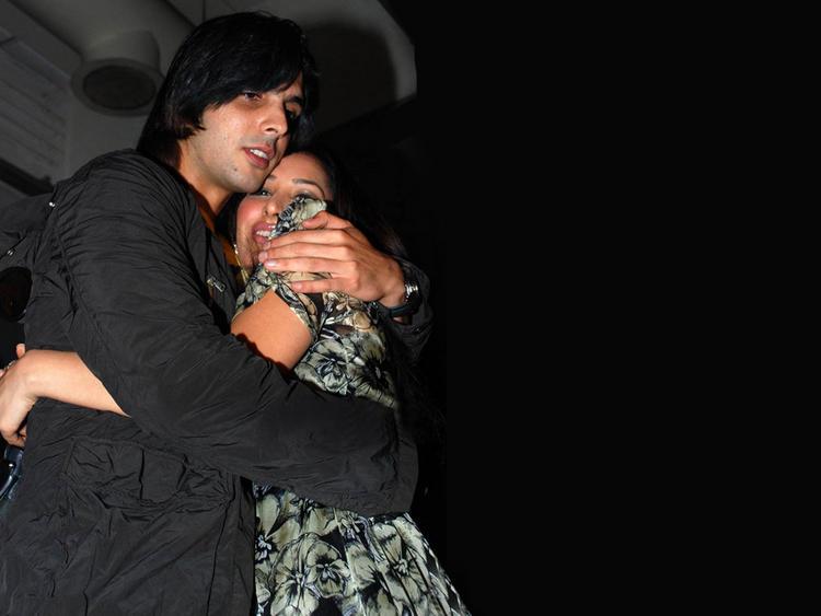 Sophia Chaudhary and Zayed Khan Hug Still