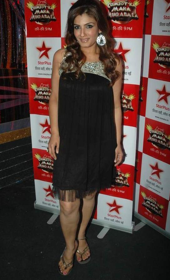 Raveena on Sets of Star Plus Comedy Ka Maha Muqabla