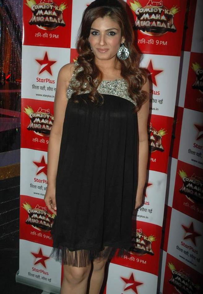 Raveena Tandon on the sets of Star Plus Comedy Ka Maha Muqabla