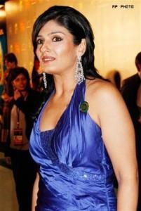 Raveena Tondon Blue Dress Glamour Still