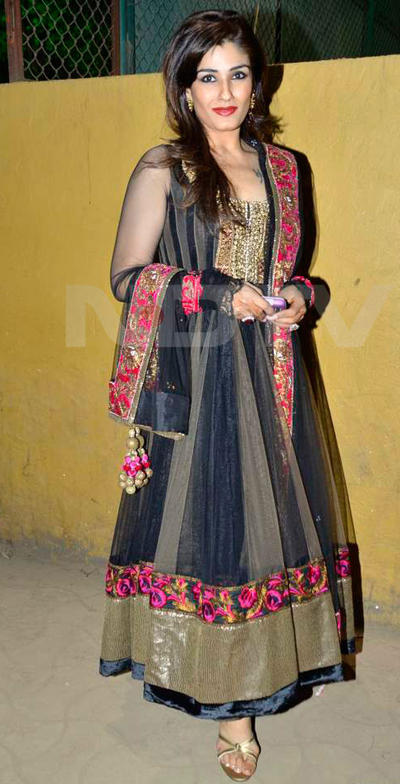 Raveena Tondon Looking Beautiful In This Dress