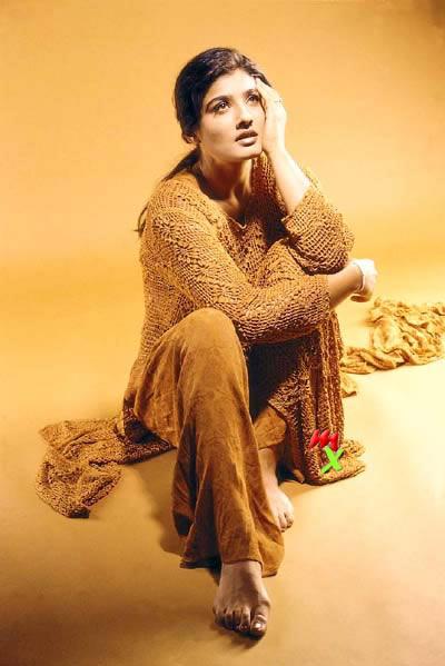 Sizzling Babe Raveena Tandon Wallpaper
