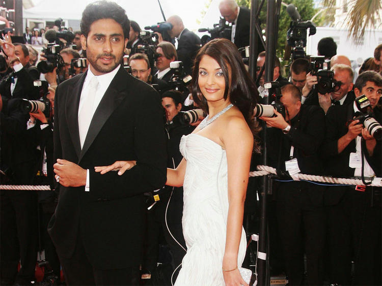 Aishwarya Rai with Abhishek Bachchan at Cannes