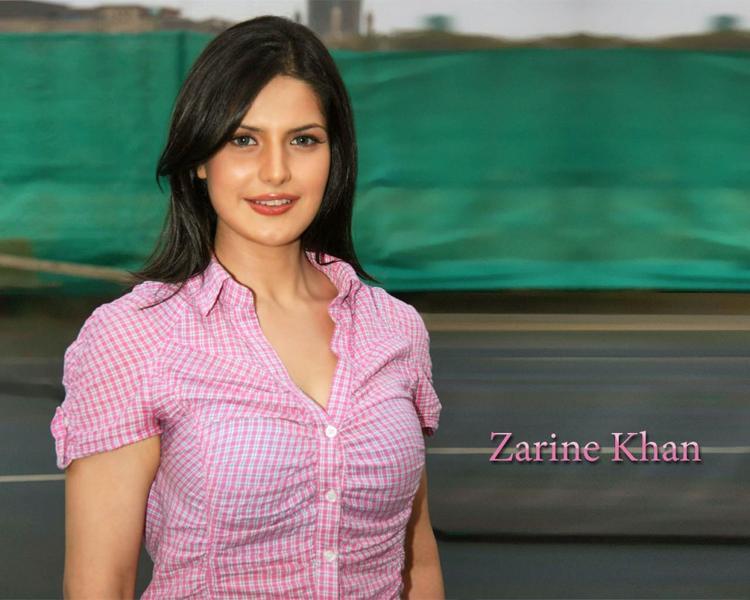 Hot Zarine Khan Pink Tops Wallpaper