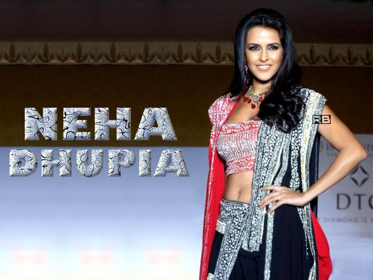 Neha Dhupia Gorgeous Wallpaper In Beautiful Dress