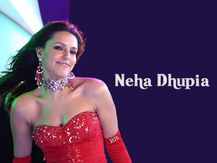 Neha Dhupia Strapless Dress Sexy Wallpaper