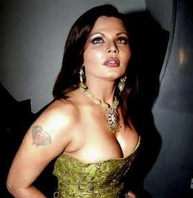 Rakhi Sawant Open Boob and Tattoo Pic