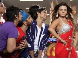 Rakhi Sawant Sexy Dance In Red Saree