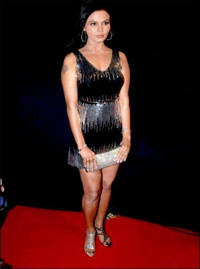 Rakhi Sawant Short Dress Hot Still On Red Carpet