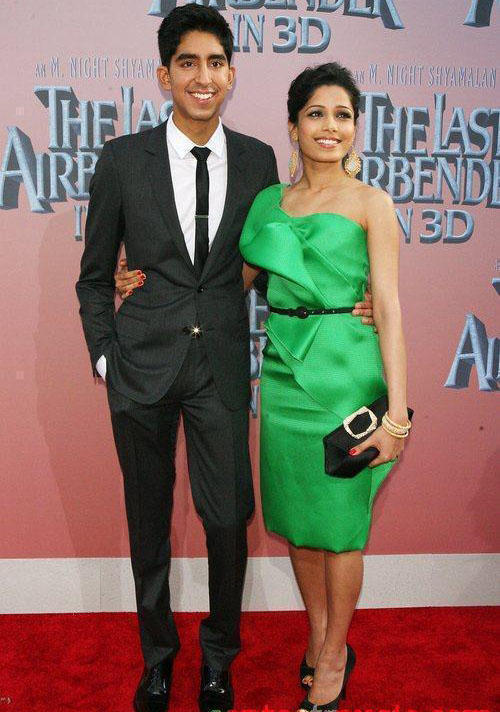 Freida Pinto and Dev On Red Carpet