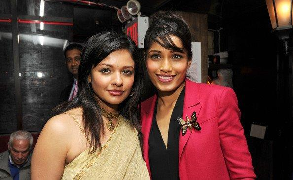 Pooja Kumar and Freida Pinto at Tribeca Film Festival 2012 After Party