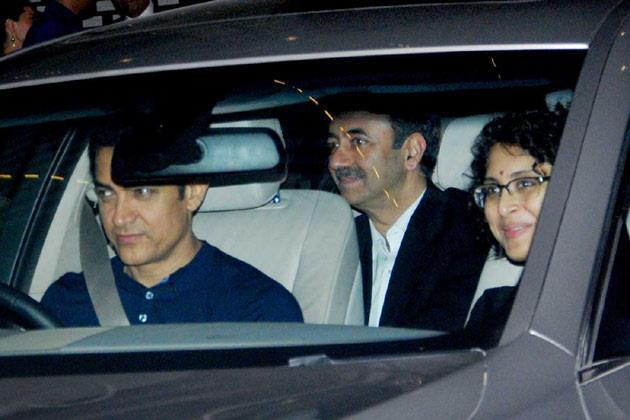 Aamir and Kiran at Nita and Mukesh Ambani's Party