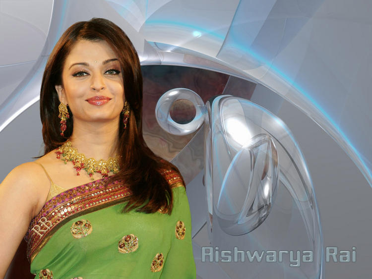 Aishwarya Rai Beautiful Wallpaper In Saree