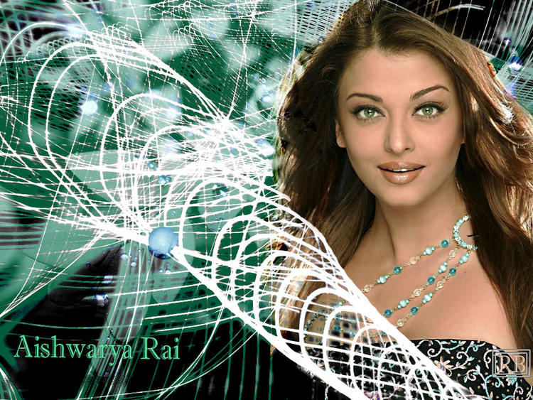 Aishwarya Rai Blue Eyes Look Wallpaper