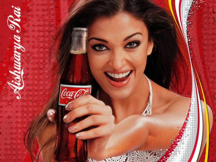 Aishwarya Rai Coca Cola Ad Sexy Smile Wallpaper