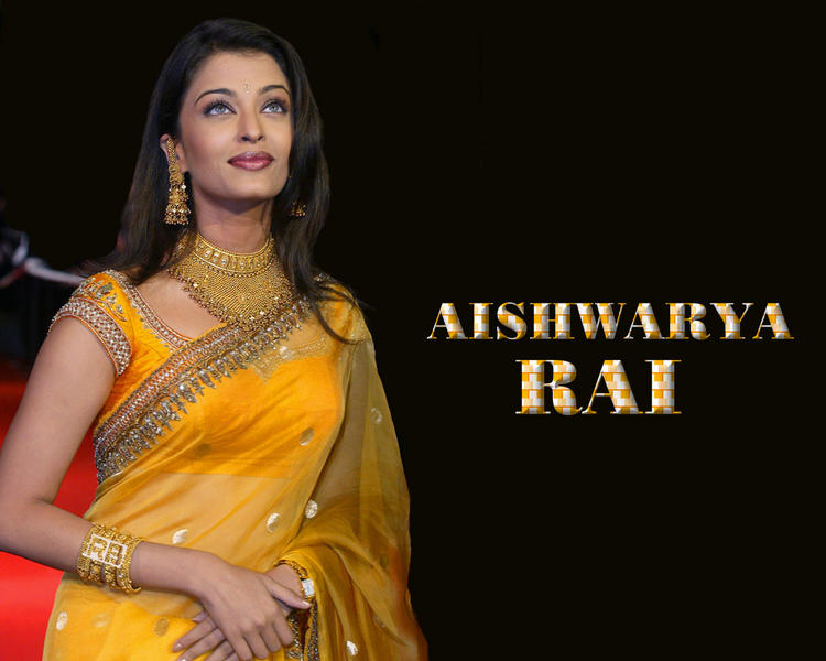 Aishwarya Rai Gorgeous Saree Beauty Still