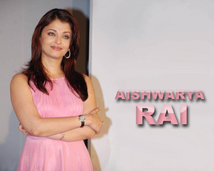 Aishwarya Rai Pink Dress Sweet Wallpaper