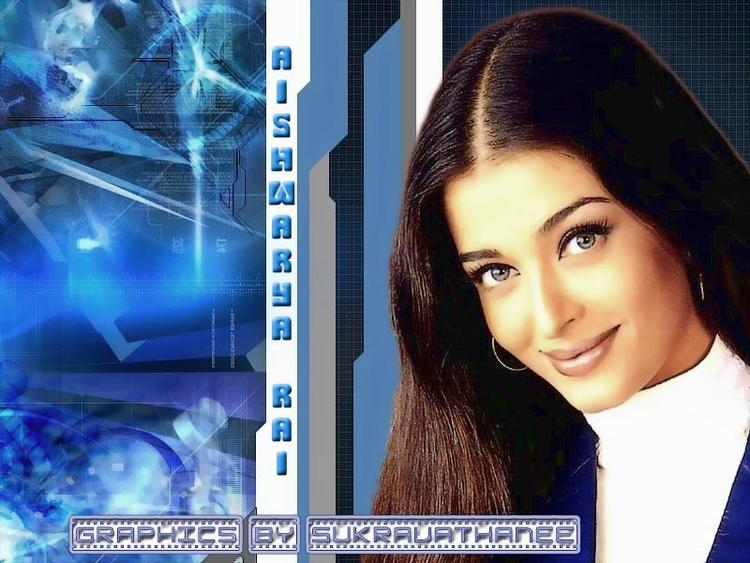 Aishwarya Rai Sweet and Simple Look Wallpaper