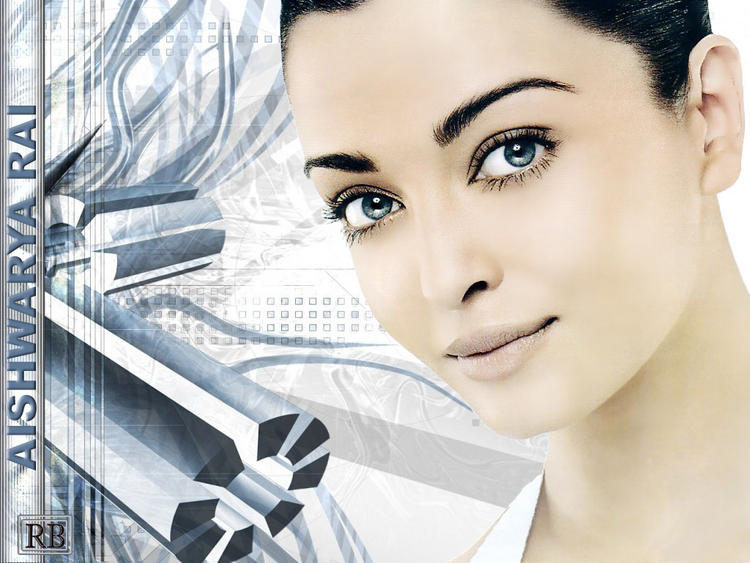 Blue Eyes Beauty Aishwarya Rai Wallpaper