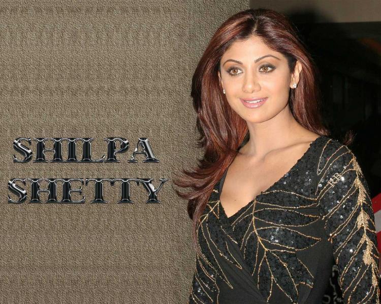Shilpa Shetty Black dress Gorgeous Wallpaper