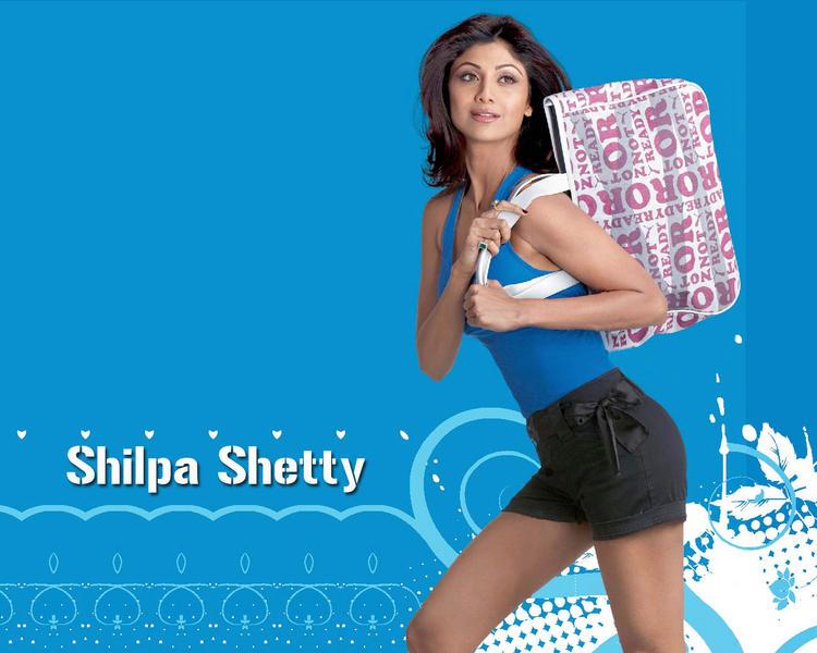 Shilpa Shetty Sexy Wallpaper In Mini Skirt