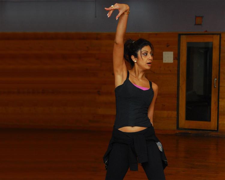 Shilpa Shetty Yoga Pose Still