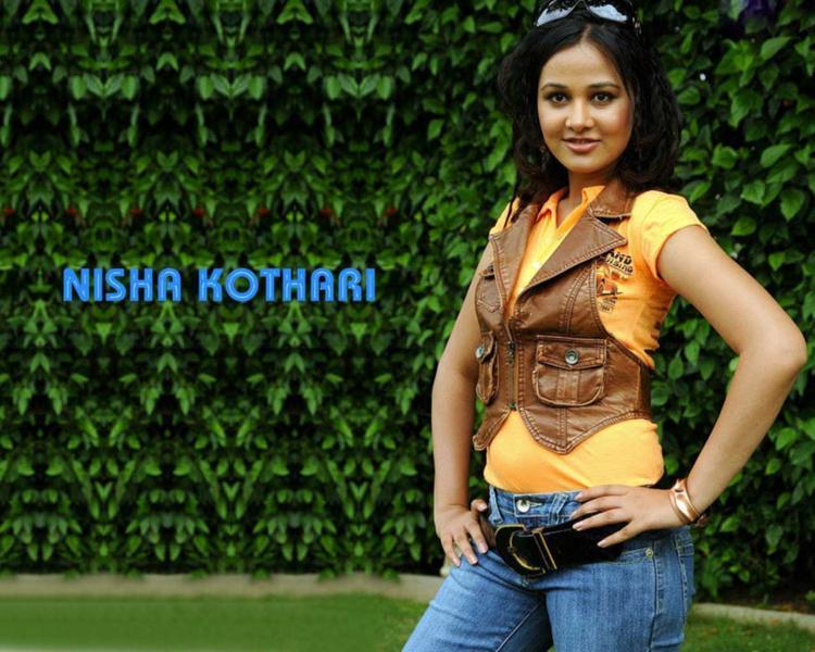 Hot Actress Nisha Kothari Stylist Wallpaper