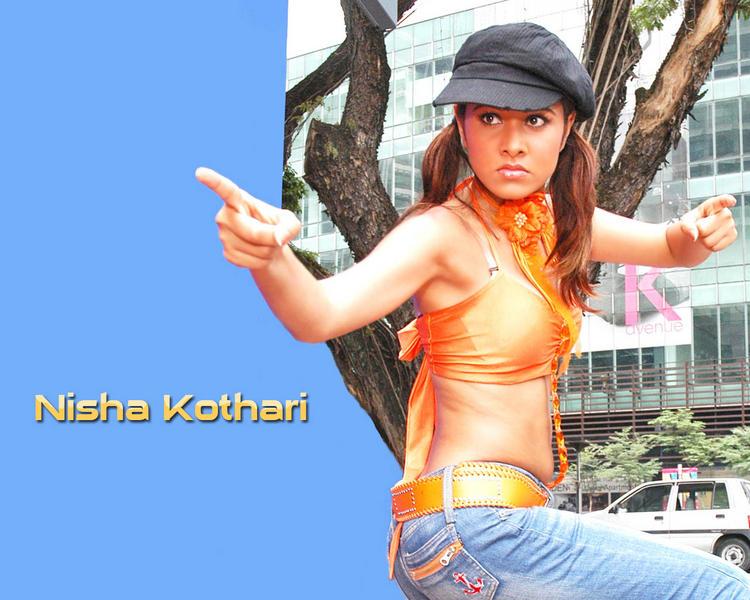 Nisha Kothari Hot Look Bold Wallpaper