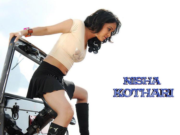 Nisha Kothari In Mini Skirt Sexy Still