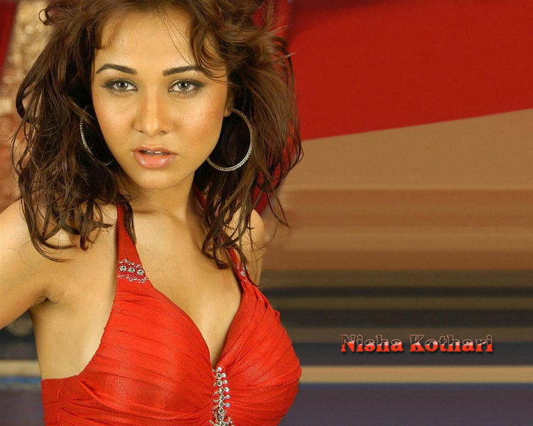 Nisha Kothari Red Hot Wallpaper
