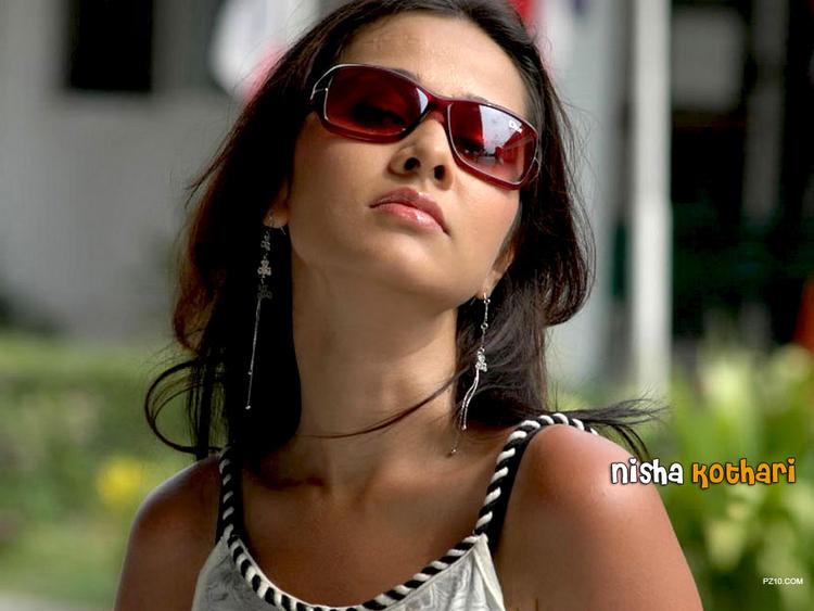 Nisha Kothari Romancing Face Still Wearing Goggles