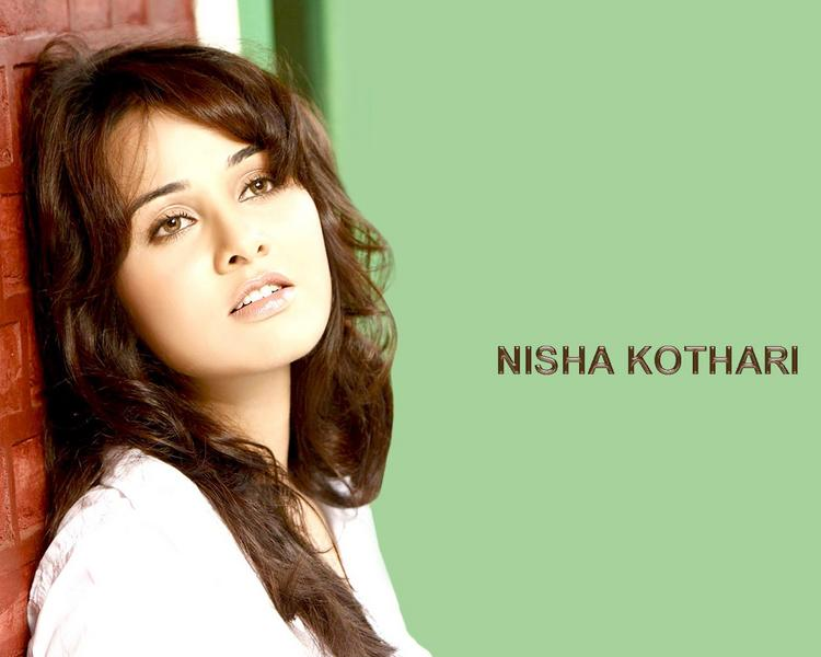Nisha Kothari Sizzling Sexy Face Wallpaper