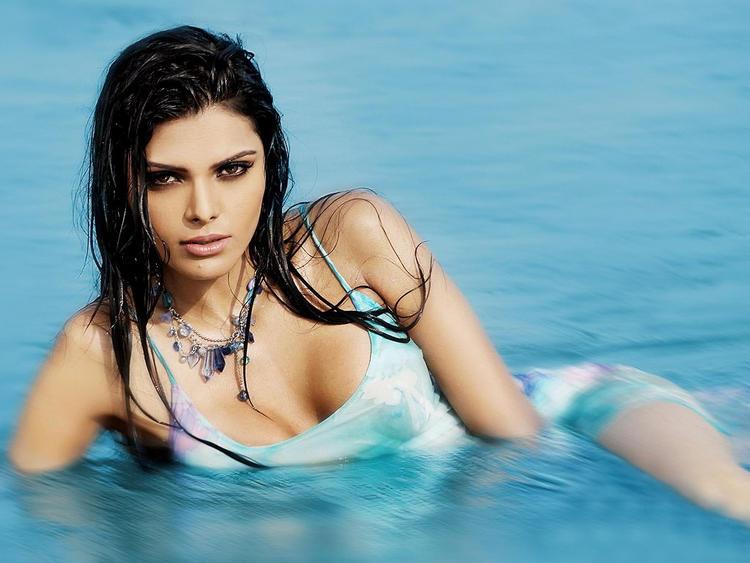 Mona Chopra Swimsut Dress Hot Photo