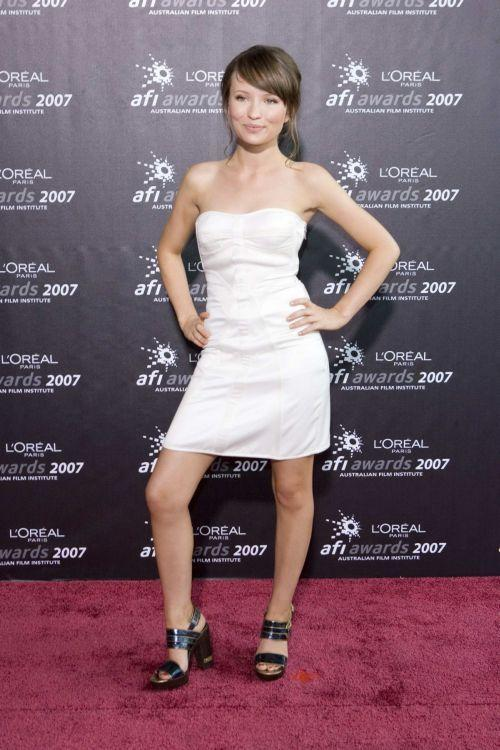 Emily Browning White Dress Sexy Photo