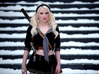 Emily Browning White Hair Sexy Still