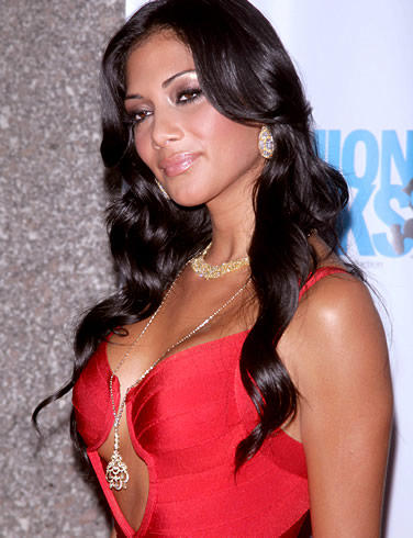 Nicole Scherzinger Red Dress Bold Photo