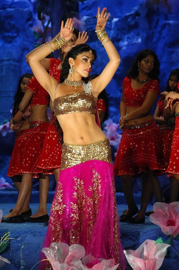 Shriya Saran Hot Sexy Dance Still in Don seenu