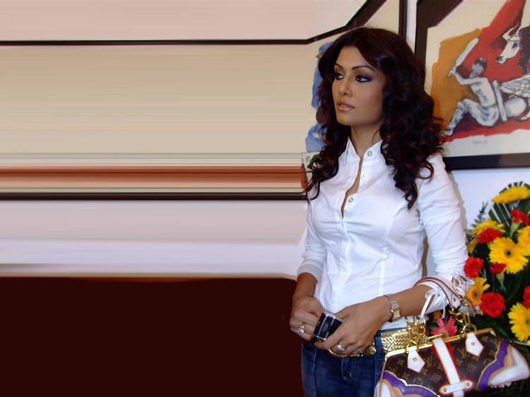 Koena Mitra Latest Still With White Shirt and Jeans